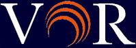 VOR Logo No By Line White Letters Blue bkg